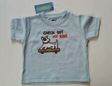 Gymboree Boys Skate Park Shirt Dog Blue Check Out My Ride Size 6-12 Months