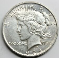 USA ESTADOS UNIDOS 1924 PEACE 1 DOLLAR MONEDA PLATA MBC+