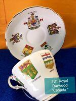 Royal Dagwood Fine Bone China Teacup And Saucer. Canadian Provinces