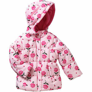 Toddler Girl Jacket Printed Puffer by Child of Mine by Carter's