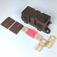 Quality Heavy Duty Mega Fuse Holder With 250 AMP Mega Fuse Terminals Heat Shrink