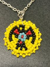 Native American Vintage Hand Beaded Charms Phoenix D913