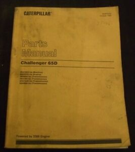CAT CATERPILLAR CHALLENGER 65D TRACTOR PARTS BOOK MANUAL S/N 2ZJ1965-UP