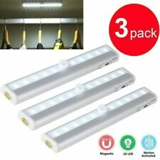 3pcs 10 LED PIR Motion Sensor Light  Wireless Night Closet Magnetic Lamp Indoor