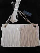 NWT GUESS Keegan Zip Crossbody Handbag Shoulder bag Purse Chain Strap Pink White