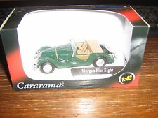 CARARAMA DIE CAST- MORGAN PLUS EIGHT - GREEN - 1:43
