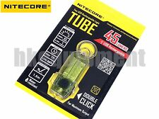 NiteCore TUBE Rechargeable USB LED Pocket Keychain Pocket EDC Flashlight Yellow