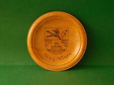 Insel Rügen Binz Wanddteller Wappen uraltes Andenken Holzteller Souvenir
