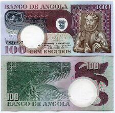 Angola 100 Escudos 1973 a/unc Banknote Paper Money Luiz De Camoes