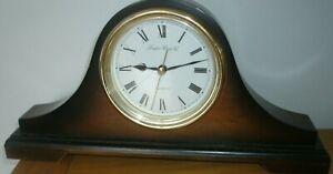 LONDON CLOCK COMPANY   NAPOLEON SHAPE WOODEN  QUARTZ MANTEL CLOCK