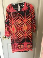 Sandro Women's Multi Colored Patterned Open Back Dress Size 2 NWT