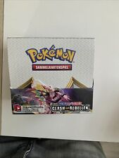 36 Pokemon Booster/Display Schwert&Schild Clash der Rebellen
