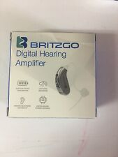 Britzgo Digital Hearing Aid Amplifier BHA-702 -Noise Cancelling Gray