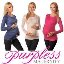 2in1 Maternity & Nursing Top Pregnancy Breastfeeding Size 8 10 12 14 16 18 7007