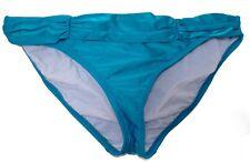 2 Bamboo bikini swim bottom swimsuit size M blue hipster women swimwear nwt