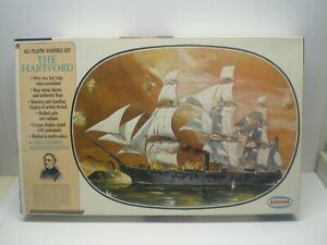 "VTG 1966 AURORA "" THE HARTFORD SAILING SHIP "" kit no. 441/595 MODEL KIT 1/130"