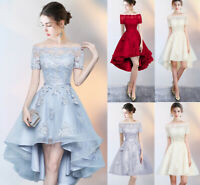 Noble Lace Evening Formal Party Ball Gown Prom Bridesmaid Mid-long Dress MLXN01