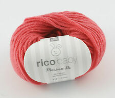 Rico Baby Merino DK - 100% Wool Knitting & Crochet Yarn - Azalea 004