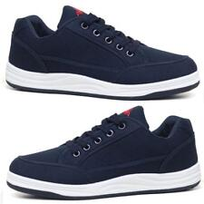 Mens Canvas Boat Deck Flat Plimsolls Driving Casual Lace Up Trainers Shoes Size