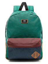 Vans Old Skool II Backpack Book Bag Green Blue Khaki Suede New w/tags!!