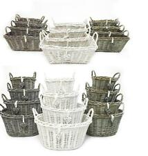 Shabby Chic Easter Egg Wicker Wedding Flower Kitchen Fruit Storage Hamper Basket
