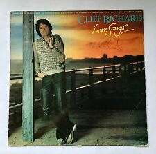 CLIFF RICHARD LOVE SONGS VINYL LP MPL - SIGNED ON THE FRONT COVER