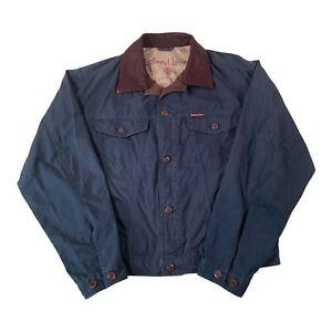 Vintage Marlboro Classics Blue Thin Denim Trucker Jacket - Mens Large