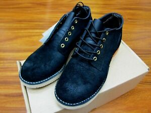Whites Boots Men's Hathorn Rainier Black Roughout Leather Made in USA  RARE!!