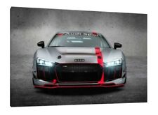 2017 Audi R8 LMS GT4 - 30x20 Inch Canvas - Framed Picture Print Art