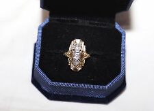 Ladies 14KT Yellow Gold Antique Style Filigree Duchess Ring
