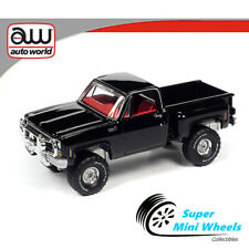 Auto World 1:64 - 1980 Chevrolet Custom Deluxe 10 Stepside - Black【Pre-Order】