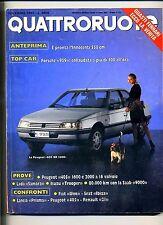 QUATTRORUOTE # Anno XXXII N.385 Novembre 1987 # Ed.Domus Rivista Mensile