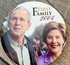 George W Bush Laura Bush Family First 2004 04 President 3 Inch Round Button Pin