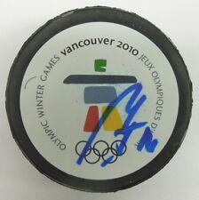 PATRIK ELIAS SIGNED 2010 VANCOUVER OLYMPICS HOCKEY PUCK 1000715