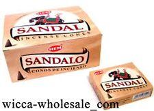 Hem Sandal Incense Cones, Bulk Lot 12 Pack of 10 Cones = 120 Cones ~ Sandalwood