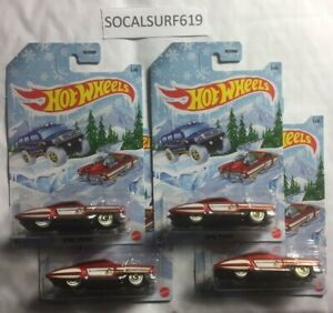 (4) Mattel Hot Wheels Winter 2020 Holiday EVIL TWIN NEW *SOCALSURF619*