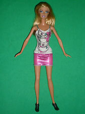 Blonde Barbie Doll with a Pretty Dress & Ankle Boots