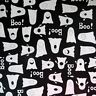 By The Yard, 100% Cotton Quilting Sewing Fabric Halloween Ghosts, Boo By Andover