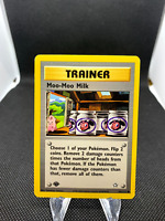 Moo-Moo Milk Trainer 101/111 1st Edition Neo Genesis Trainer Pokemon Card WOTC