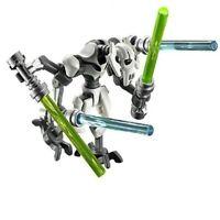 Général Grievous thème Star Wars type lego avec 4 sabres neuf sous blister