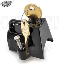 """Motorcycle Helmet Lock for 7/8"""" - 1-1/4"""" Frame Tube & Bars Lockable Helmet Latch"""