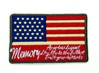US MILITARY MEMORY PATCH embroidered iron-on AMERICAN  VET USA FLAG 318