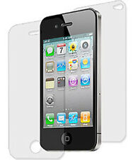 NEW FRONT BACK SCREEN PROTECTOR SHEET LCD SAVER FOR APPLE iPHONE 4S 4 4G