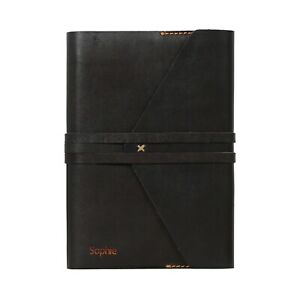 Leather Journal A5 Notebook Refillable Notebook Cover Envelope Wrap Style