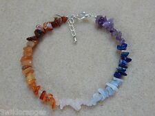 Chakra Gemstone Anklet, Ladies - Gift - free gift bag