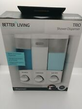 Better Living Products 76354 Euro Series Trio 3-Chamber Soap and Shower White
