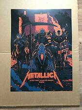 Metallica Paris 12 May '19  official concert litho print  new Stade De France