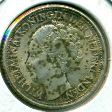1944 NETHERLANDS 25 CENTS, EXTRA FINE/ALMOST UNCIRCULATED, LUSTER, GREAT PRICE!