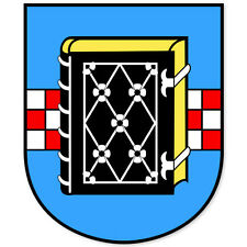 "Bochum Germany Coat of Arms bumper sticker 4"" x 5"""