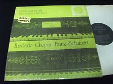 CHOPIN  // SCHUBERT<>ERNST GROSCHEL<>Lp Vinyl°UK Press°ORYX EXP 64